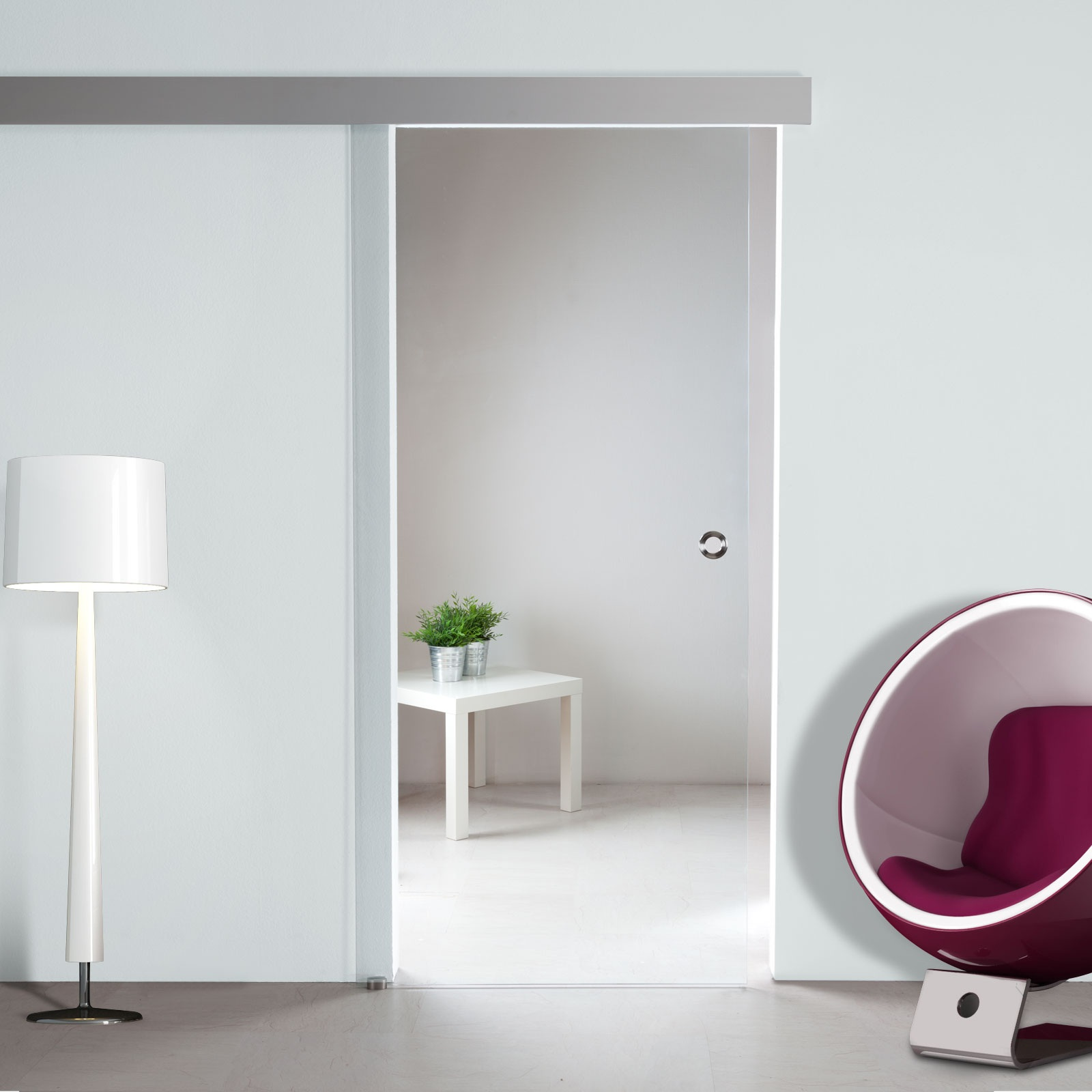 Glasschiebetür Design Klar Soft-Close (opt.) ST722-S mit ...