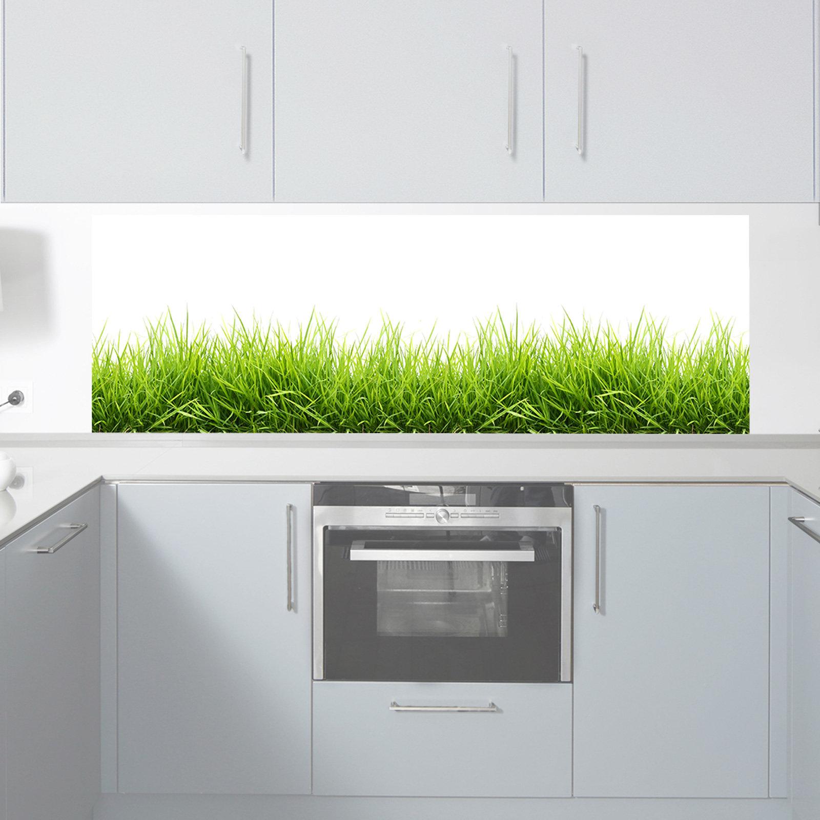 küchenrückwand digitaldruck auf premium pvc folie 1011-1 motiv 'gras