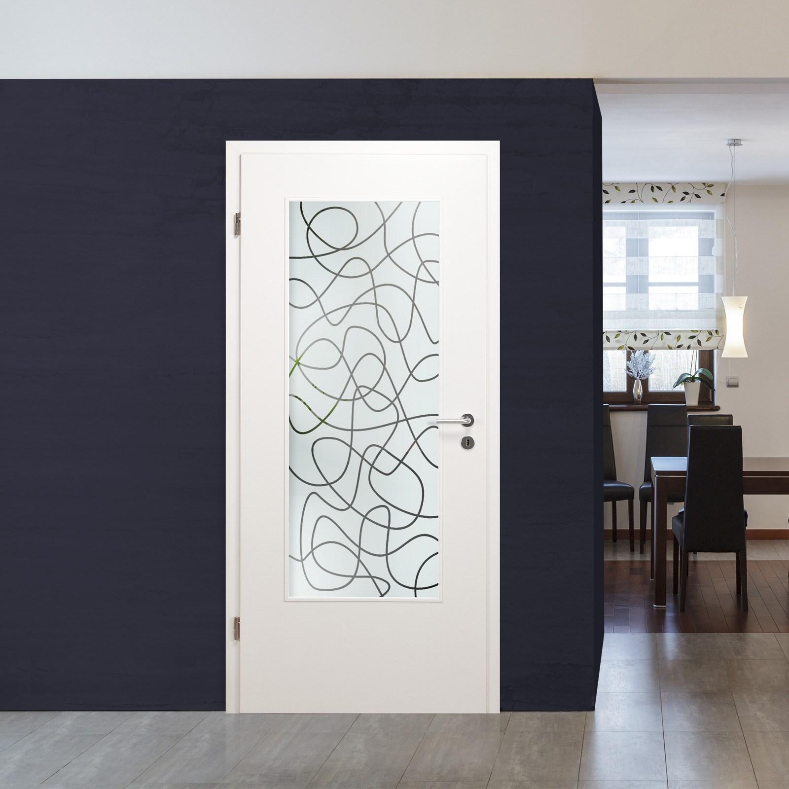 glaseinsatz f r holzt r innent rverglasung klarglas sandstrahldekor las 364 ebay. Black Bedroom Furniture Sets. Home Design Ideas