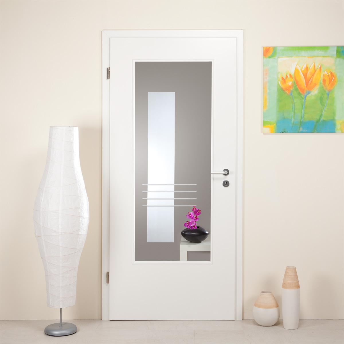 innent rverglasung mit dekor rillenschliff lar967 ebay. Black Bedroom Furniture Sets. Home Design Ideas