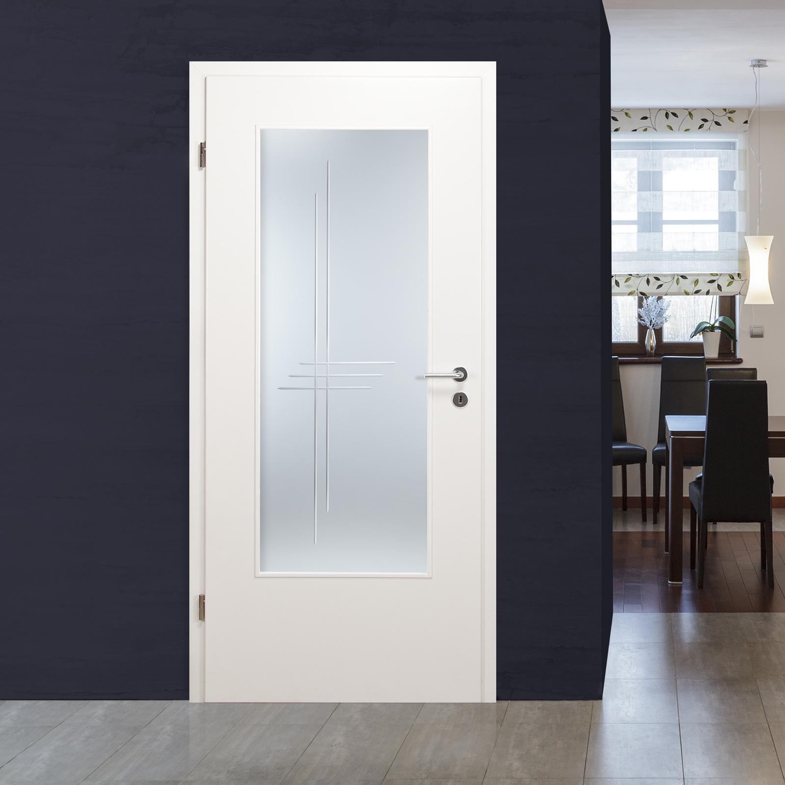 glaseinsatz f r holzt r satinato mit kristallrillenschliff lar 972 ebay. Black Bedroom Furniture Sets. Home Design Ideas